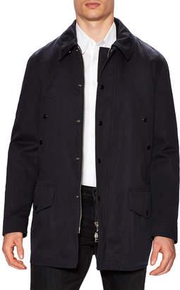 Tom Ford Solid Spread Collar Car Coat