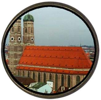 Munich GiftJewelryShop Ancient Style Travel frauenkirche Round Pin Brooch