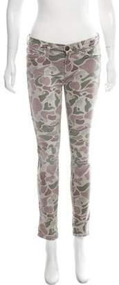 Current/Elliott Camouflage Low-Rise Jeans