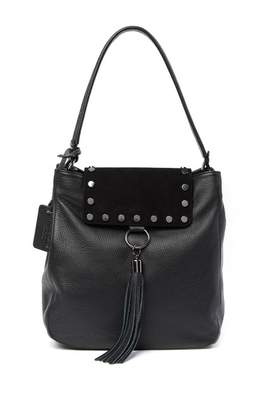 Persaman New York Alicina Leather Tassel Hobo Bag