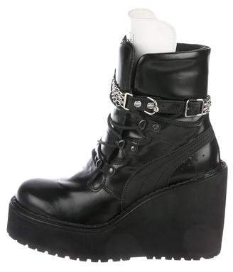 18cb43341001 FENTY PUMA by Rihanna Leather Women s Boots - ShopStyle