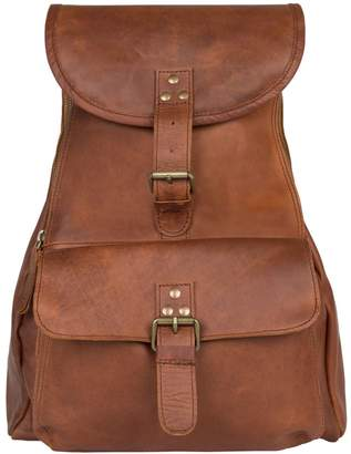 MAHI Leather - Leather Explorer Backpack/Rucksack Womens in Vintage Brown