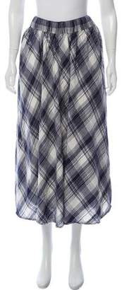 Ulla Johnson Plaid Midi Skirt