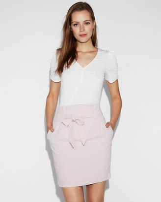 Express Sash Tie Waist Mini Skirt