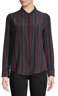 Rails Striped Silk Button-Down Shirt