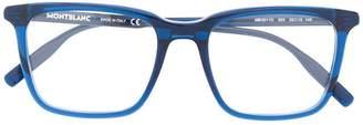 Montblanc oversized square frame glasses