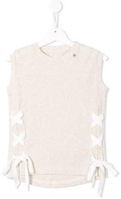 Go To Hollywood lace-up tank top