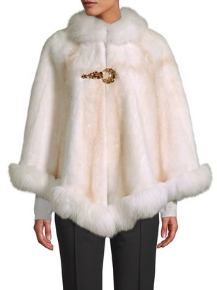 Wolfie Fur Made for Generations Natural Mink & Fox Fur Cape