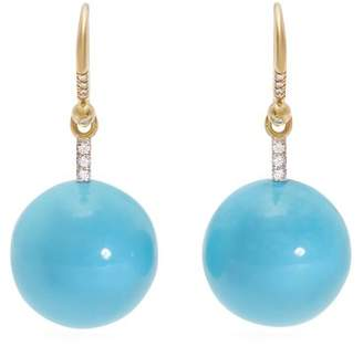 Irene Neuwirth Gold, Diamond & Kingman Turquoise Earrings - Womens - Blue