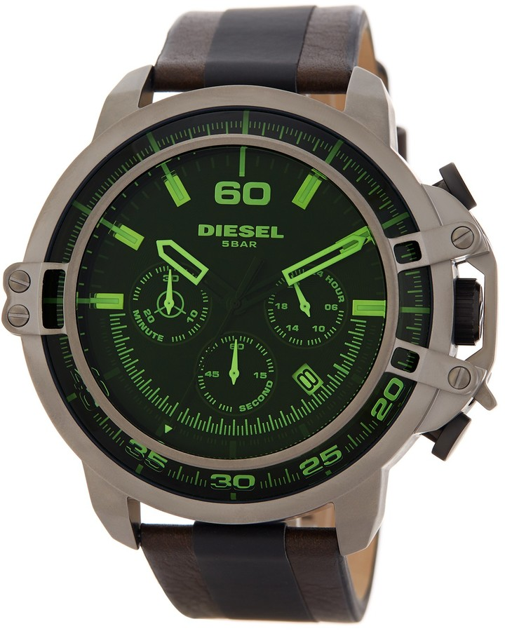 DieselDiesel Men's Dead Eye Leather Strap Watch
