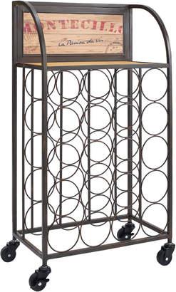Linon Wine Rack With Wheels