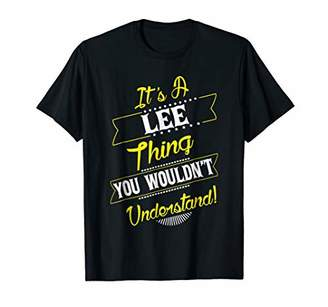 Lee Thing Family Name Reunion Surname Tree T Shirt