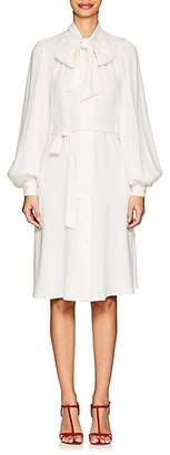 Co Women's Cady Belted Tieneck Shirtdress - Ivorybone
