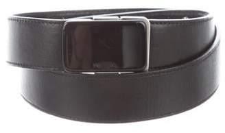 Prada Leather Buckle Belt Black Leather Buckle Belt