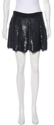 Proenza Schouler Silk Sequined Skirt