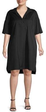 Lafayette 148 New York Plus Kennet Collar Shift Dress