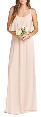 Show Me Your Mumu Caitlin Cold Shoulder Chiffon Gown