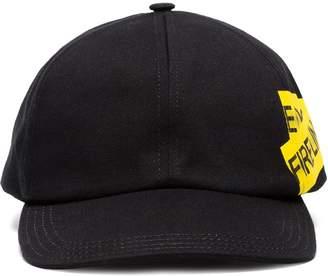 Off-White Fire tape baseball cap