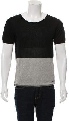 CNC Costume National Crew Neck Colorblock T-Shirt
