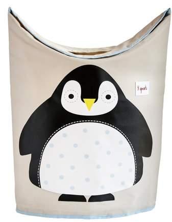 Penguin Canvas Laundry Hamper