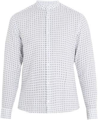 Altea Tile-print linen shirt