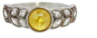 Cathy Waterman Rose Cut Yellow Diamond Ring