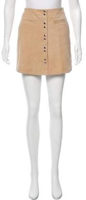 Intermix Suede Mini Skirt