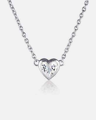 Enchant Heart Diamond Silver Fine Necklace