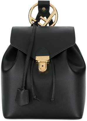 Fendi calf leather classic logo backpack