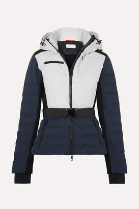 Erin Snow - Kat Color-block Hooded Quilted Ski Jacket - Cream