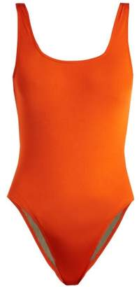 Bower - Ideal Square Neck Swimsuit - Womens - Red