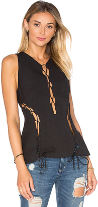 KENDALL + KYLIE Lace Front Tank $138 thestylecure.com