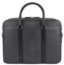 BOSS Hugo Signature Collection document case in check-printed calf leather One Size Patterned