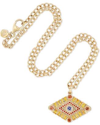 Marlo Laz - Shaman's Eye 14-karat Gold, Tanzanite And Sapphire Necklace