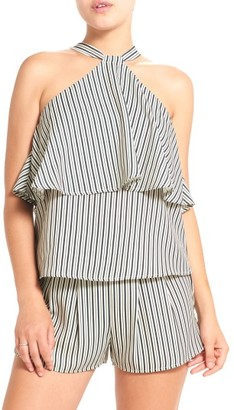 Women's Thieves Like Us Ruffle Halter Top $58 thestylecure.com