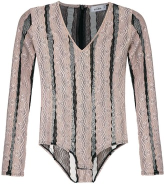 AMIR SLAMA striped bodysuit