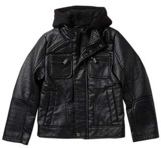 Urban Republic Buffalo Faux Leather Moto Jacket (Big Boys)