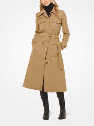 MICHAEL Michael Kors Wool-Melton Trench Coat
