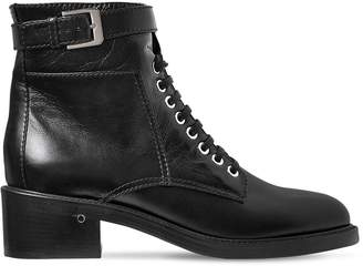 Laurence Dacade 40mm Solene Leather Lace-Up Boots