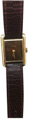 Cartier Tank Must Brown Gold plated Watches