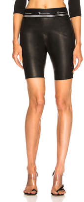 Alexander Wang Leather Biker Short