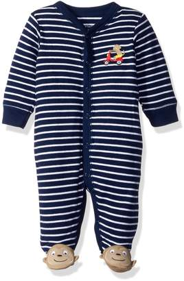 """Carter's Baby Boys' """"Monkey Scooter"""" Footed Coverall"""