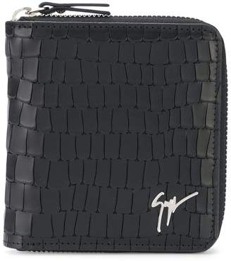 Giuseppe Zanotti Design crocodile effect zipped wallet