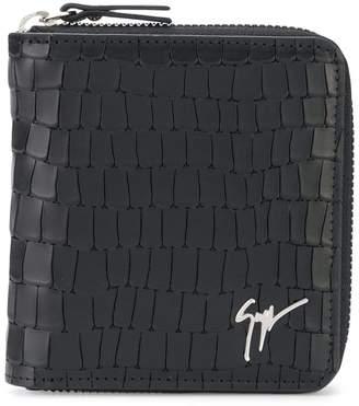 Giuseppe Zanotti Design crocodile effect zipped wallet