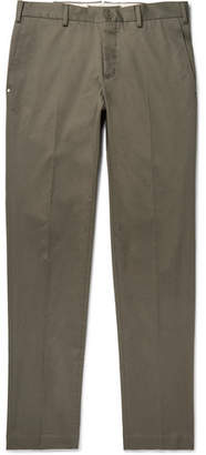 Incotex Slim-fit Cotton-blend Twill Chinos - Green