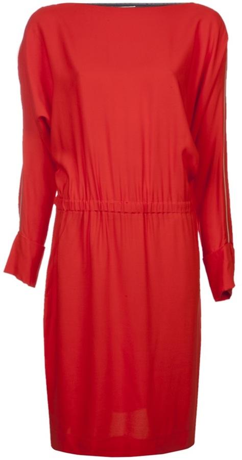 L'Agence zip shoulder dress