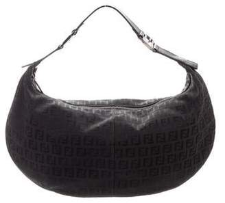 66e56377554 Fendi Leather-Trimmed Zucchino Bag