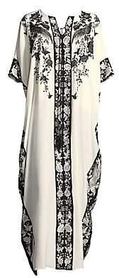 Natori Women's Peaceful Petals Silk Nightgown