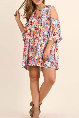 Umgee USA Open Shoulder Plus Dress