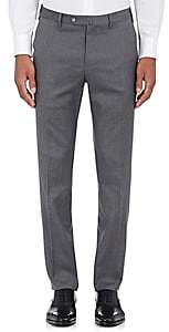 Pt01 Men's Wool Twill Slim Trousers-Gray Size 42